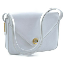 GUCCI Leather Shoulder Bag White Auth ar562 - $180.00
