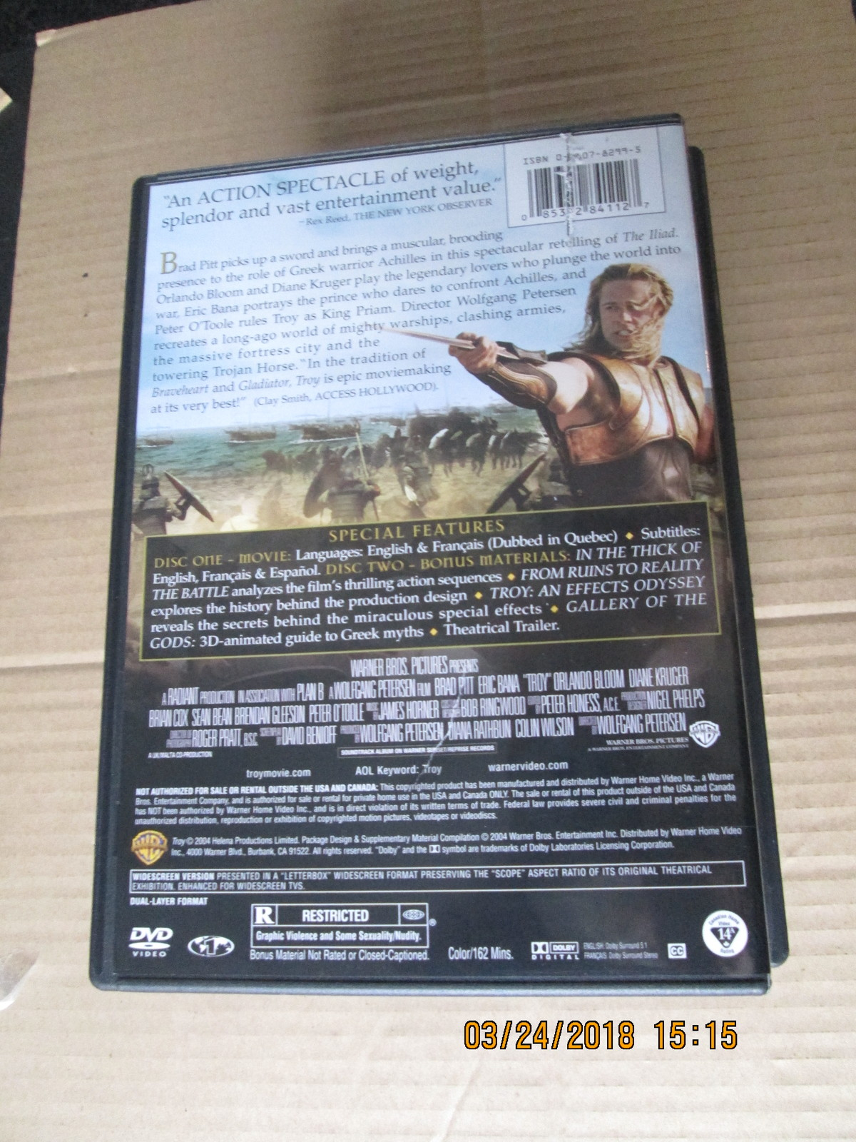 Troy  2-Disc Wide Screen Ediition DVD Brad Pitt
