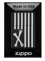 Dissizit! Los Angeles Nero Cross Bones Bandiera Americana Zippo Lighter 2013 Nib image 3