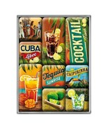 Cóctel Imanes! Tequila Sunrise cuba libre BEBIDAS 9 piezas Imán Set de r... - $11.05