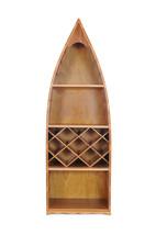 """24.5"""" x 74"""" x 12.5"""" Wooden Canoe Wine Shelf - $1,292.64"""