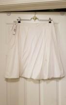 White Elie Tahari Skirt Msrp $225 Size 12 Ruffle Embroidered Belt - $115.14
