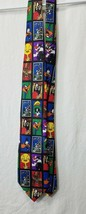 Looney Tunes Stamp Collection Cartoon WB Short Men's Tie Cartoon Necktie - $12.19