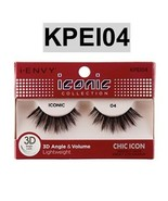 I ENVY BY ICONIC COLLECTION 3D ANGLE & VOLUME EYELASHES # KPEI04 CHIC ICON - $3.75