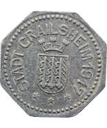 1917 Notgeld 50 Pfennig Stadt Crailsheim Germany Coin (MO838-) - $45.00