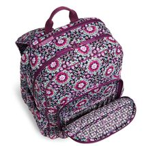 Vera Bradley Signature Cotton Campus Tech Backpack, Lilac Medallion image 4
