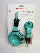 KITCHENAID AQUA 9 PC MEASURING CUPS AND SPOONS SET NEW STYLE - $12.99