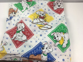 Vtg Disney 101 Dalmatians Fitted Sheet Twin Size Made in USA - $19.80