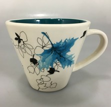 Starbucks Coffee Autumn Falling Blue Leaves 10 oz Mug 2007 - $27.93