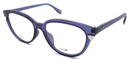 Fendi Rx Eyeglasses Frames FF 0141/F MQP 51-16-140 Matte Dark Blue Asian... - $117.60