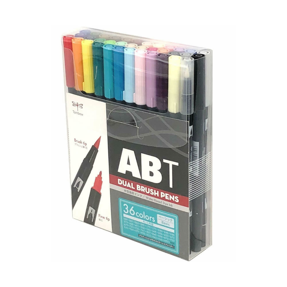 Primary image for Tombow ABT Dual Brush Pens (Brush Tip + 0.8mm Fine Tip) 36-Color Basic Set, AB-T