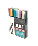 Tombow ABT Dual Brush Pens (Brush Tip + 0.8mm Fine Tip) 36-Color Basic S... - $86.99
