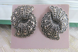 1980s Vintage Avon Fanfare Faux Marcasite Earrings Surgical Posts Org Ca... - $13.49