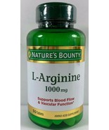 Nature's Bounty L-Arginine 1000 MG, 50 Ct Tablets Supports Blood Flow - $12.86