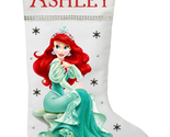 Ariel Christmas Stocking - Personalized and Hand Made The Little Mermaid Christm