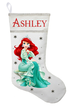 Ariel Christmas Stocking - Personalized and Hand Made The Little Mermaid... - $29.99