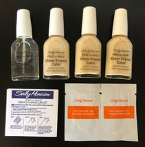 Lot of 4 NEW Sally Hansen Sheer French Manicure Nail Polish UV Top Coat ... - $19.79