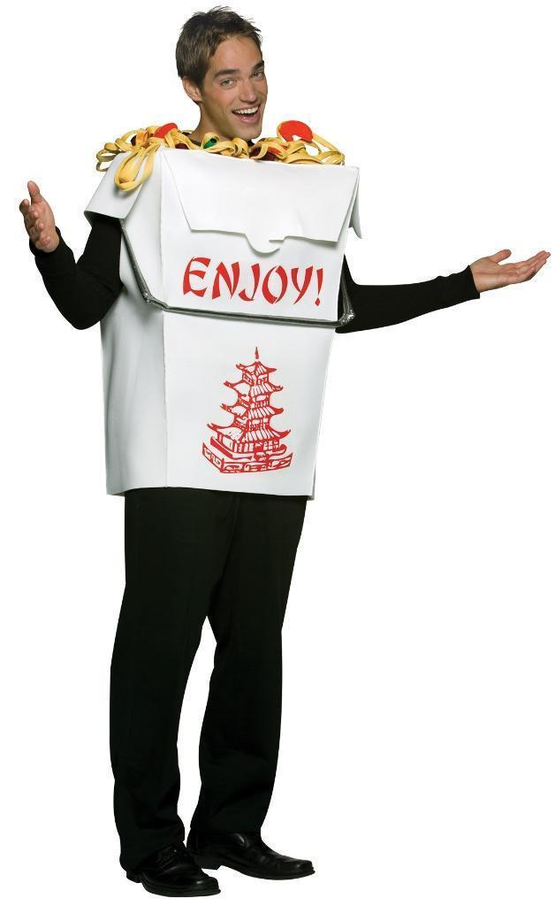 Chinese Take Out Adult Costume Pagoda Men Women Food Halloween Unique GC6978
