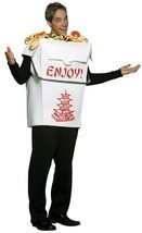 Chinese Take Out Adult Costume Pagoda Men Women Food Halloween Unique GC... - €52,61 EUR