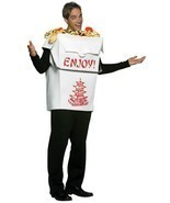 Chinese Take Out Adult Costume Pagoda Men Women Food Halloween Unique GC... - £45.60 GBP