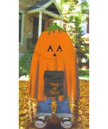 Stuff a Pumpkin Jack-o-Lantern Leaf Bag Halloween Home Inddors Outdoor D... - $3.96