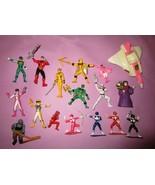 Power Rangers Red Blue Yellow Green Pink Rita White PVC Cake Topper Figu... - $15.00