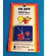 1980 Mr. Men & Little Miss Strong Enamel Necklace/Ring 14KGold Roger Har... - $19.79