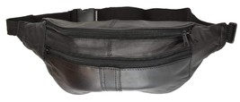 Travel Genuine Leather Waist Fanny Pack Hip Pouch with Zippered Compartments - $9.99