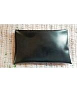 VINTAGE BLACK VINYL MAKE-UP BAG OR PENCIL CASE W/METAL ZIPPER (ENGRAVED ... - $10.00