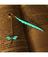 Zinc Alloy Metal Glow In The Dark Dragonfly And Leaf Design Fashion Book... - $8.90