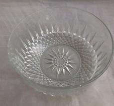 "Arcoroc France Round Starburst Diamond Point Glass 7-3/4"" Serving Veggie... - $18.69"