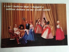Barbie VTG Postcard Barbie Doll Collector Christmas Gift Fashion Parade Z26 - $11.63