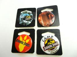 Vintage Jurassic Park pin back 4 Button Lot 1993 Dinosaur - $6.84