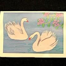 Tokyo BUNKA 2 White Swans Punch Embroidery Set Kit #212 Size 6 (35 x 50cm) - $55.00