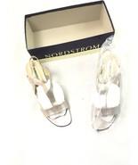Nordstrom's Womens Silver Heel Sandals 9 - $29.69