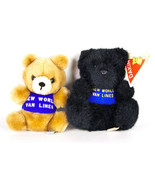 Dakin Teddy Bear New World Van Lines Advertising Plush Vtg 1978 Brown 1991 Black - $11.95