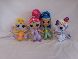 Shimmer and Shine Doll Blue & Pink Genies + Nahal + Tala the Monkey Plushes - $55.02