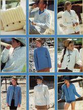 Sirdar Family Denim Aran Chunky Sweaters Jackets Cardigan Cushions Knit ... - $12.99
