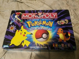 POKEMON MONOPOLY BOARD GAME Collectors Edition by Parker Bros   - $30.00