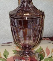 VTG FENTON AMETHYST HP DOT FLOWER COVERD DISH PURPLE CUT GLASS SQUARE BO... - $159.59