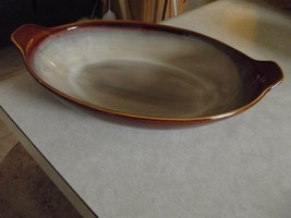 Sango Nova Brown oval serving bowl 1 available  - $17.77