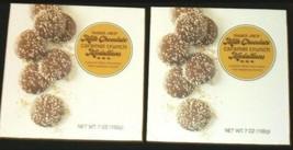 Trader Joe's Milk Chocolate Caramel Crunch Medallions 2 Packs Each 7 Oz - $20.56