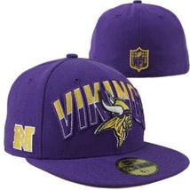 New Era 59Fifty NFL  Minnesota Vikings On The Field Football Hat Cap Sz 6 1/2 - £16.05 GBP
