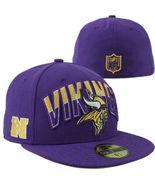 New Era 59Fifty NFL  Minnesota Vikings On The Field Football Hat Cap Sz ... - £16.05 GBP
