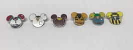 Lote 6 WDW Hidden Mickey Serie Disfraz Icon Disney Broches - $54.01