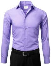 Berlioni Italy Men's Slim-Fit Premium French Convertible Cuff Solid Dress Shirt image 11