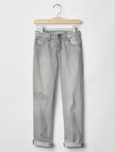 NWT $37 GAP Kids Girls 1969 Rip & Repair Boy Fit Boyfriend Jeans Gray 6 Reg - $10.88