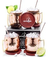Authentic Moscow Mule Copper Mugs Set Of 4 (16oz) ? Includes Everything You - $1.705,99 MXN