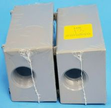 LOT OF 2 NEW BELL OUTDOOR 5324-0 SINGLE-GANG BOXES 3/4INCH PORTS CAST ALUMINUM image 3
