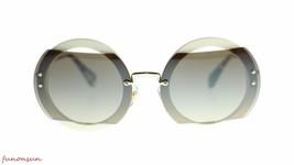 Miu Miu Women Sunglasses MU06SS VAG4P0 Ivory/Brown Gradient Mirror Silver 63mm - $193.03